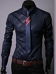 camicia nera / bianca / navy classica / semi-diffusa del collo del manicotto lungo per i vestiti