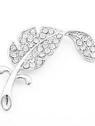 chanceux strass de la mode des femmes chanceux broche plume style élégant