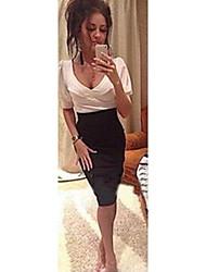 economico -vestito sottile di modo delle donne di papaya
