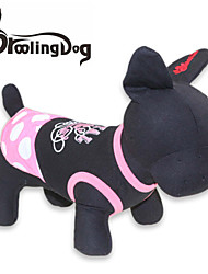 cheap -Cat Dog Dress Dog Clothes Polka Dot Black/Pink Cotton Costume For Pets