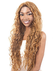 cheap -Small Volumes Of The New European And American Golden Brown Long Curly Hair Wig