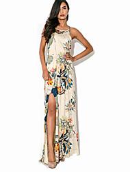 kvinders afslappet mikro-elastisk ærmeløs maxi dress (polyester)