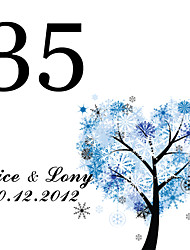 cheap -Personalized Square Table Number Card--Wishing Tree (Set of 10)