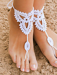 cheap -Crochet Barefoot Sandals,Beach Pool Wear,Accessories, Fashion Accessory,Toe Ring Anklet, Ankle Bracelet(1Pair) Christmas Gifts