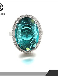 cheap -Statement Rings Fashion Zircon Cubic Zirconia Platinum Plated Jewelry For Wedding Party 1pc