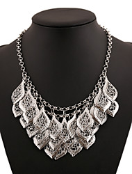 cheap -Women's Flower Carved Multi Layer Statement Necklace Layered Necklace Statement Necklace Layered Necklace , Party