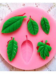 Bakeware Silicone Leaf Baking Molds for Fondant Candy Chocolate Cake