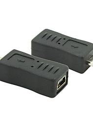 Micro-USB-2.0-Stecker auf Mini USB 2.0 Buchse Konverter-Anschluss-Stecker-Adapter