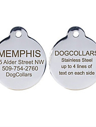 cheap -Personalized Free Engraving Stainless Steel Dog ID Tag for Pet(Assorted Sizes)