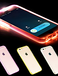 Per Custodia iPhone 6 / Custodia iPhone 6 Plus Con torcia LED / Transparente Custodia Custodia posteriore Custodia Tinta unita Morbido TPU