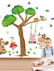 Wall Stickers væg decals stil tegneserie dyr swing pvc wall stickers
