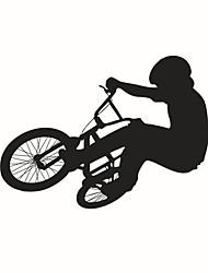 Недорогие -настенные наклейки наклейки для стен, стиль езды на велосипеде ПВХ стены стикеры