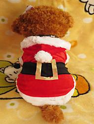 Pas Hoodies Odjeća za psa Božić White/Red Kostim Za kućne ljubimce