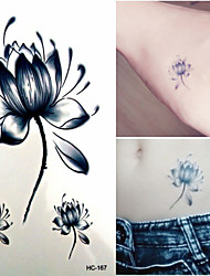 Elegant Charming Ink Lotus Tattoo Stickers Temporary Tattoos(1 Pc)