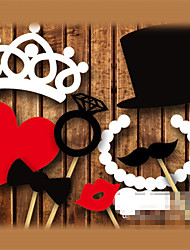 Wedding Décor 8 Piece Card Paper Photo Booth Props/Party Fun Favor (Heart&Crown&Ring)