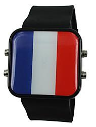 cheap -Men's Women's Quartz Wrist Watch Sport Watch Silicone Band Charm Black White Blue