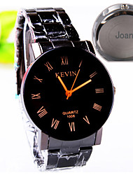 cheap -Personalized Gift Men's Casual Watch Steel Strap Engraved Watch