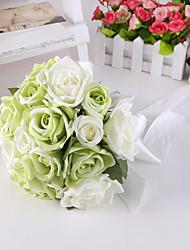Bouquet sposa Tondo Rose Peonie Bouquet Matrimonio Partito / sera Raso Seta 25cm