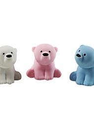 cheap -Lovely Polar Bear Assemble Rubber Eraser