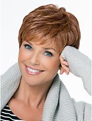 Недорогие -естественно пушистые шапки высокое качество короткие волнистые моно сверху человеческие волосы парики двенадцать цветов на выбор