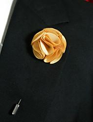 Недорогие -мужской случайный шафран желтый шелковый товар брошь классический женственный стиль