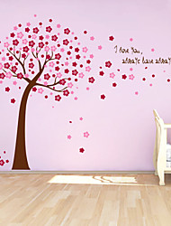 economico -adesivi murali decalcomanie della parete, carino colorato PVC estraibile le autoadesivi della parete albero rosso fortunati.