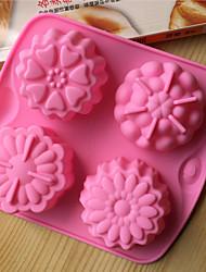 stampi da forno a forma di fiori in silicone bakeware per gelatina torta al cioccolato