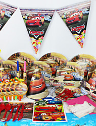cheap -Luxury Cars 78pcs Birthday Party Decorations Kids Evnent Party Supplies Party Decoration 6 People use