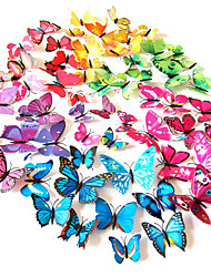 cheap -3D PVC Colorful Simulation Butterfly Wall Stickers 12PCS/SET