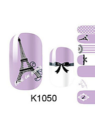 billige -Neglekunst Klistermærke 3D Negle Stickere Tegneserie Makeup Kosmetik Neglekunst Design
