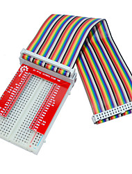 cheap -Raspberry Pie 3 GPIO Extended DIY Kit (40P +GPIO V2+400 Rainbow Line Hole Bread Board)