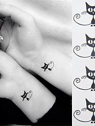 Недорогие -1 pcs Временные тату Временные татуировки Тату с животными Мини / Экологичные Искусство тела руки / лодыжка / Стикер татуировки