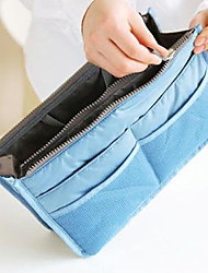 cheap -Handbag Organiser Makeup Storage Purse Large liner Organizer Tidy Bag Pouch(Random Color)