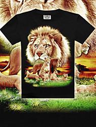 MEN - T-shirt - Sexy/Bodycon/Stampa Rotondo - Maniche corte Cotone