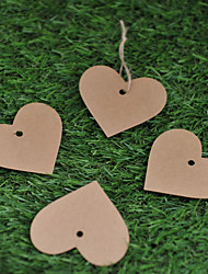 cheap -Kraft Paper  Labels (Set of 50)----Heart without Ribbon Wedding Favors