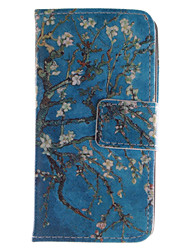 Apricot Blossom Design PU Leather Flip Case for iPhone 4/4S iPhone Cases