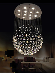 cheap -LED Pendant Lights Modern Crystal Chandeliers Clear K9 Crystal Globe Ceiling Lamps Fixtures