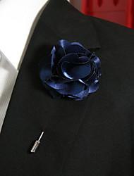 Недорогие -Муж. Жен. Броши Цветы Стиль Брошь Бижутерия Темно-синий Назначение На каждый день