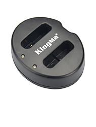 kingma® slot USB caricabatterie doppio per la batteria nb-12L canone per LEGRIA mini x powershot marchio G1X n100 camera-nero
