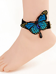 Women Fashion Body Jewelry Charm Vintage Lace Bow Butterfly Comfortable Anklets