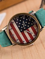 baratos -Mulheres senhoras Relógio de Pulso Quartzo Preta Relógio Casual Analógico Amuleto Fashion - Verde Azul Rosa claro / Aço Inoxidável