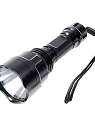 LED Flashlights/Torch Handheld Flashlights/Torch LED 1000 Lumens 5 Mode Cree XP-E R2 for Camping/Hiking/Caving Black
