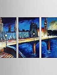 economico -Dipinta a mano Astratto Modern Tre Pannelli Hang-Dipinto ad olio For Decorazioni per la casa