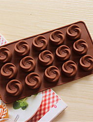 Bakeware Silicone Swirl Shaped Baking Molds for Chocolate