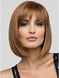 cheap -Lovely Youthful Bob Hairstyle Short Straight Mono Top Capless Human Hair Wig  5 Colors to Choose