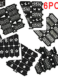 cheap -6 Bakeware Specialty Tools DIY Tools Nail Stamping Template Nail Art Forms Abstract Cartoon Fashion Lovely Wedding Punk