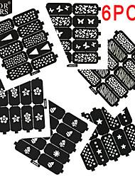 baratos -# utensílios de cozinha especialidades ferramentas diy nail stamping template nail art forms abstract cartoon lovely punk fashion wedding