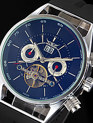 WINNER Masculino Relógio de Pulso relógio mecânico Calendário Automático - da corda automáticamente Borracha Banda Luxuoso Preta