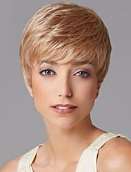 abordables -mode récents dames travestissement coupés perruques synthétiques coiffure courts perruques de cheveux raides