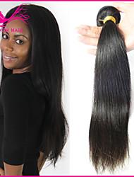 Недорогие -не 3шт много необработанной оптовая девственница бразильский прямые волосы не путать и мягкий